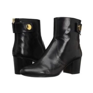 Nine West Quarryn black leather ankle bootie size9